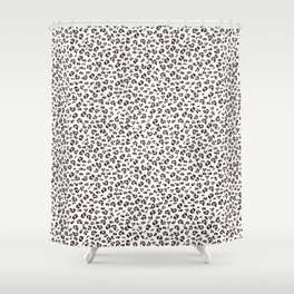 Leopard Pattern White Print Shower Curtain