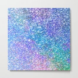 Colorful Glitter Texture Metal Print