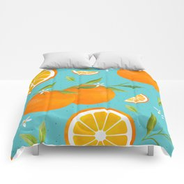 Teal Clementine Comforters