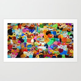 Sticker overload Art Print