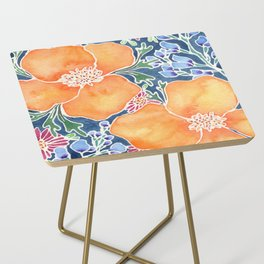 Masked Flora Collection Poppies Side Table