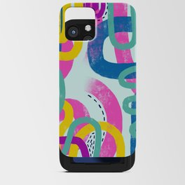 Fun bright abstract art iPhone Card Case