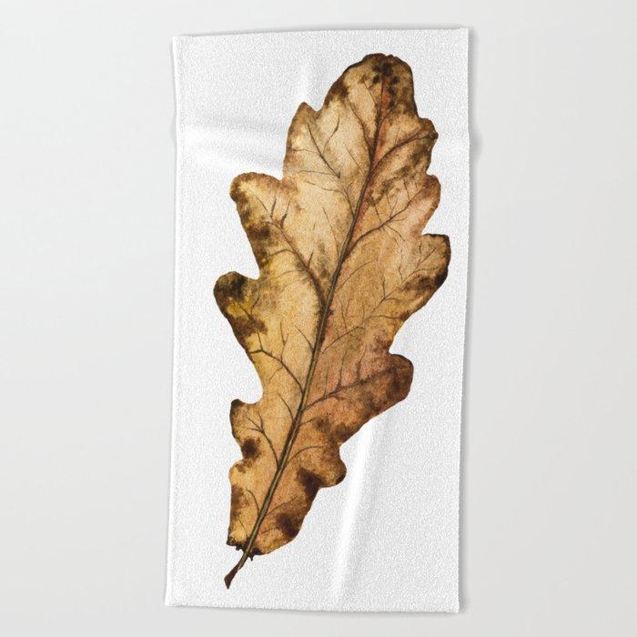 Autumn Leaf 01 Beach Towel