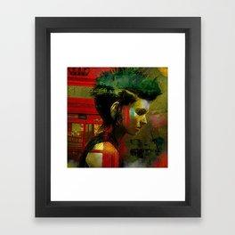 Under a British rain Framed Art Print