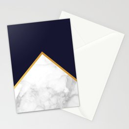 Navy Dream - Blue Marble Gold Stationery Cards