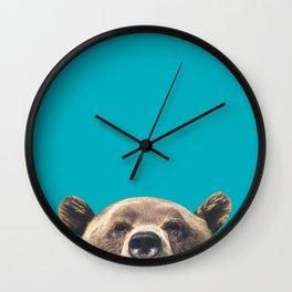 Bear - Blue Wall Clock