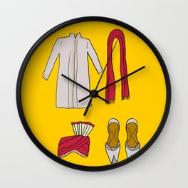 His indian outfit Wall Clock