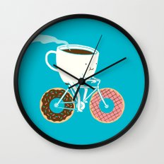 Coffee and Donuts Wall Clock