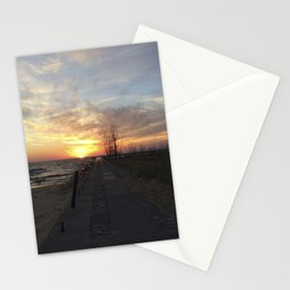 Lake Michigan Pier Stationery Cards
