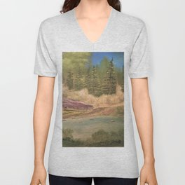 Sleeping rock - Summer day Unisex V-Neck