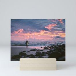 Burleigh Beach Surfer Mini Art Print