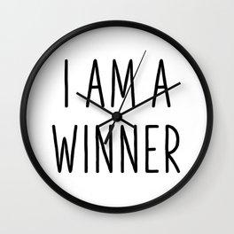 I Am A Winner Wall Clock