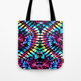 Tie Dye Hour Glass Tote Bag