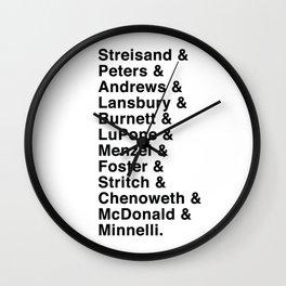 Broadway Lady Legends Wall Clock