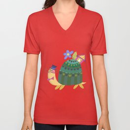 Cute Turtle Unisex V-Neck