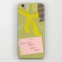 wes anderson iPhone & iPod Skins featuring Moonrise Kingdom Wes Anderson Inspired Print - Sam by Miss Design Berry