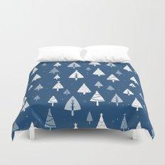 Christmas Tree Pattern (Blue) Duvet Cover