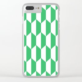 Classic Trapezoid Pattern 232 Green Clear iPhone Case