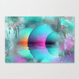 where three suns rise Canvas Print