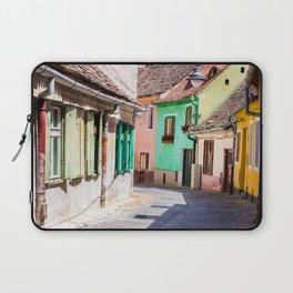 Multi Coloured Cottages Laptop Sleeve