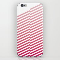 bands iPhone & iPod Skins featuring Red Bands by blacknote