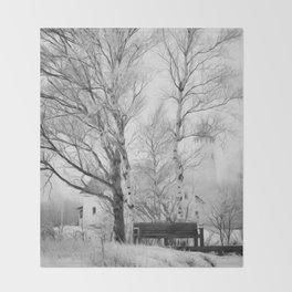 Pt. Iroquois Winter Throw Blanket