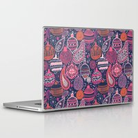 bohemian Laptop & iPad Skins featuring Bohemian Christmas by Demi Goutte