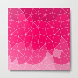 Pink Ombre Geometric Pattern Metal Print
