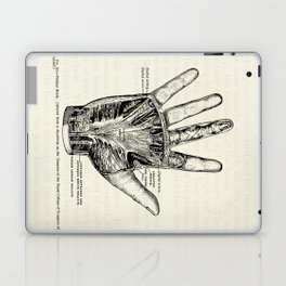 Vintage Anatomy Illustration of the Palm of the Hand Laptop & iPad Skin