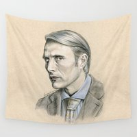hannibal Wall Tapestries featuring Hannibal by Stormwolf Studios