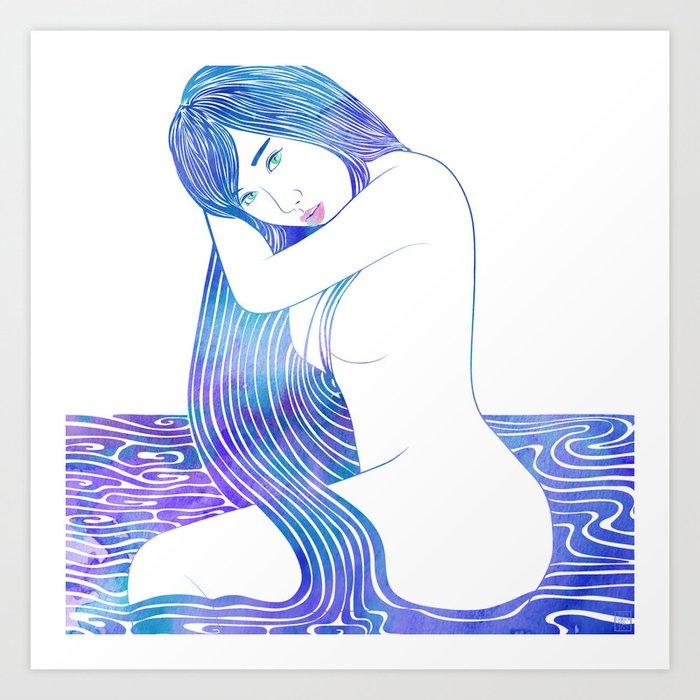 Water Nymph LXXXII Art Print