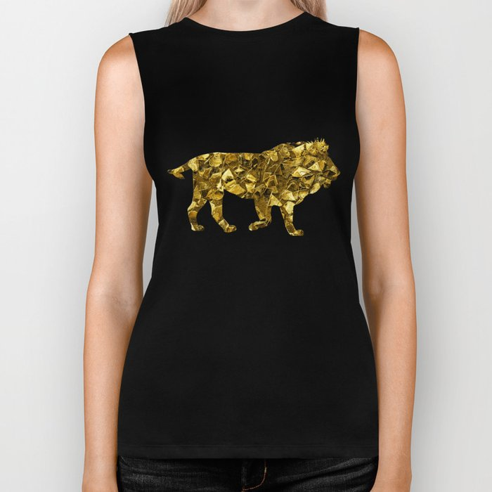 Animal Mosaic - The Lion Biker Tank
