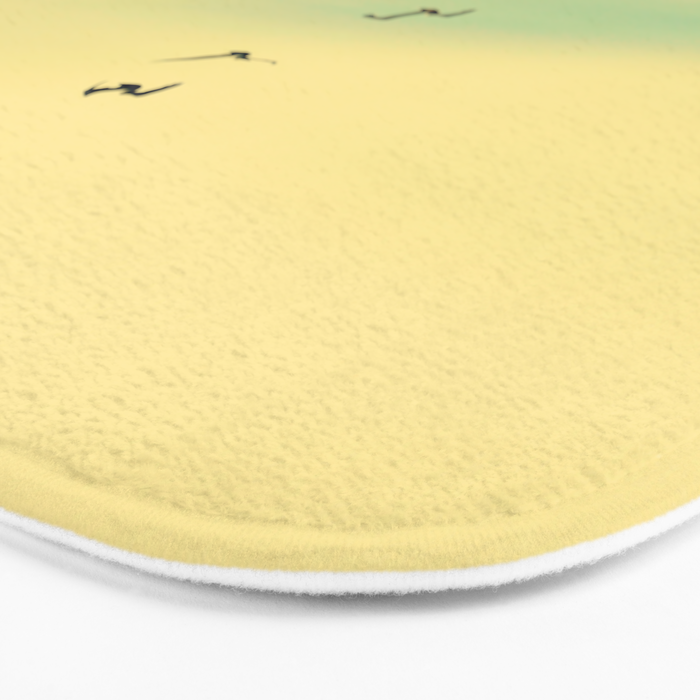 Across the Endless Sea Bath Mat