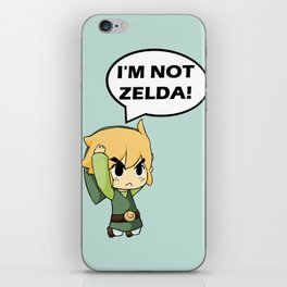 I'm not Zelda! (link from legend of zelda) iPhone Skin