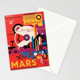 NASA Retro Space Travel Poster #9 Mars Stationery Cards