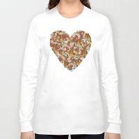 breakfast Long Sleeve T-shirts featuring Breakfast by Julia Emiliani