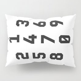Typography Numbers #2 Pillow Sham