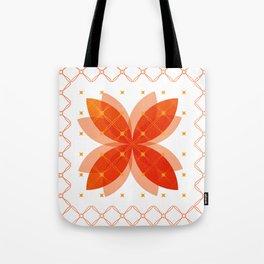 Orange Integration Pattern 3 Tote Bag