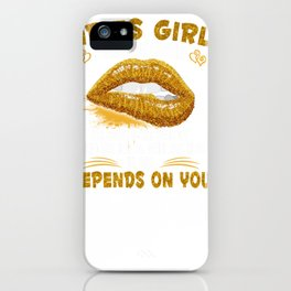 aries girl i can be mean golden lips aries girl tee iPhone Case