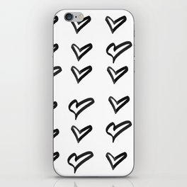 Black heart iPhone Skin