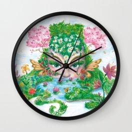 SPRING NYMPH Wall Clock