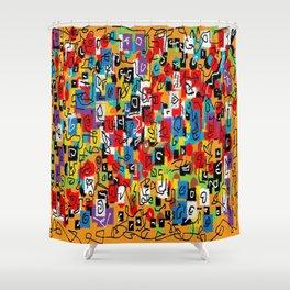 Laberinto multicolor Shower Curtain