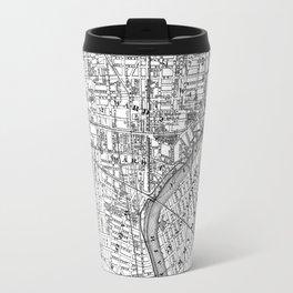 Vintage Map of Newark NJ (1872) BW Travel Mug