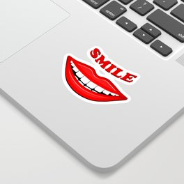 Smile With Big Lips Sticker