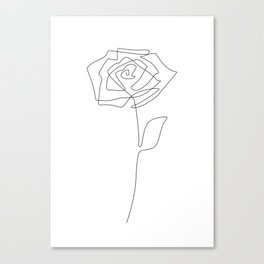 Single Rose Canvas Print