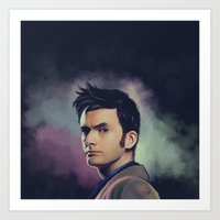 david tennant Art Prints featuring David Tennant - Doctor Who by KanaHyde