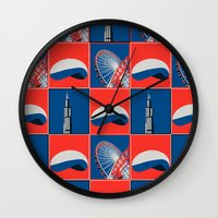 chicago Wall Clocks featuring Chicago by Arts and Herbs
