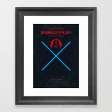 No225 My Star E-III minimal movie poster wars Framed Art Print