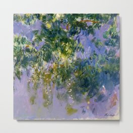"""Claude Monet """"Wisteria"""", 1920 (right side) Metal Print"""
