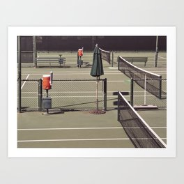 Tennis courts Art Print